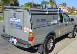 bakersfield pest control truck leaving home